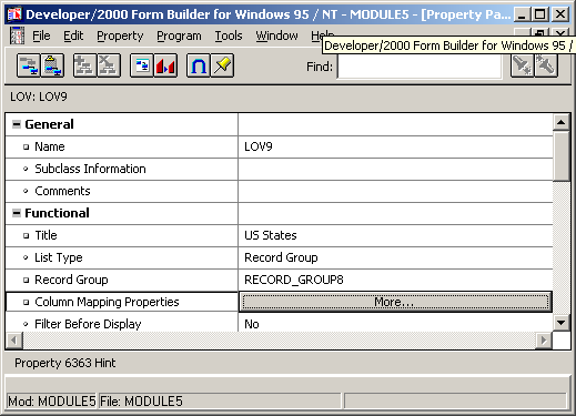 Oracle forms updating a view